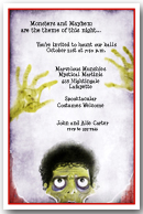 Ghoulish Fright Halloween Party Invitation